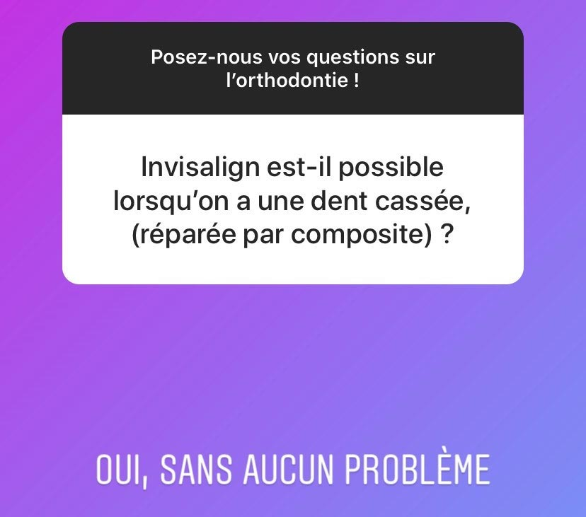 Invisalign possible avec un composite ?